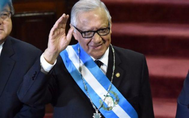 Alejandro Maldonado, nuevo presidente de Guatemala. Foto: AFP.