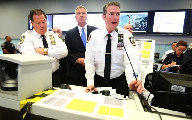 La Policía de Nueva York coordina la seguridad de la visita. Fotos: REUTERS.