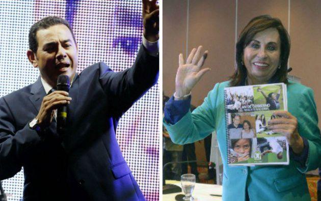 Jimmy Morales y Sandra Torres. Fotos: REUTERS y AFP
