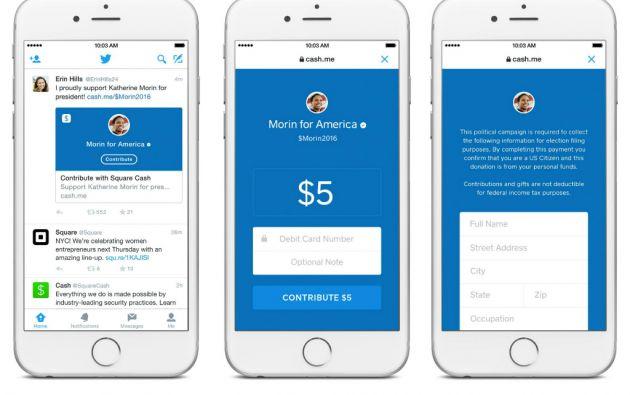 Para este servicio, Twitter trabaja con la firma de pagos online Square.