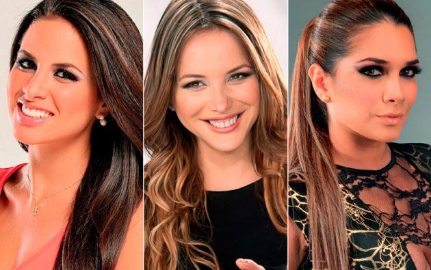 Doménica Saporiti, Érika Vélez y Gabriela Pazmiño Yépez.