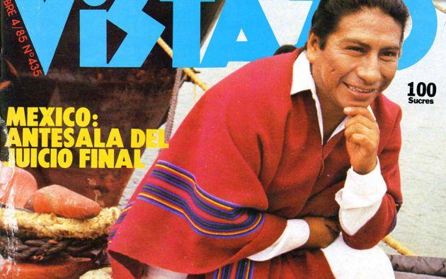 Jesús Fichamba en la portada de Revista Vistazo de octubre de 1985.
