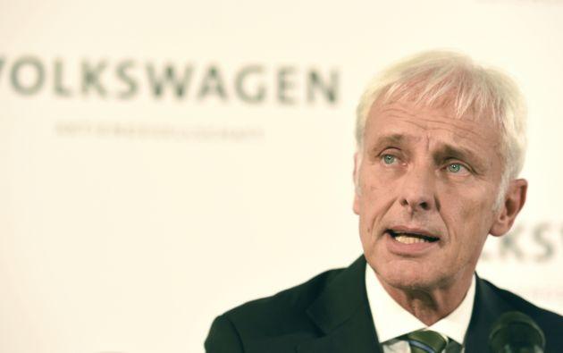 El nuevo presidente del grupo Volkswagen, Matthias Müller. Foto: REUTERS.