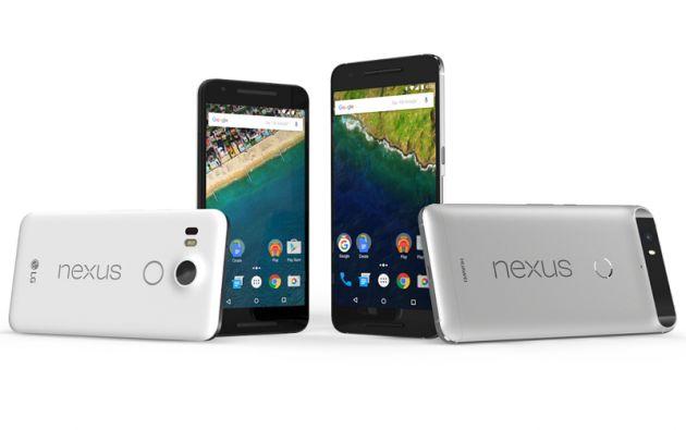 Los nuevos Nexus 5X (LG) y Nexus 6P (Huawei).