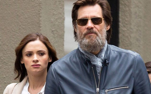 Jim Carrey y Cathriona White.