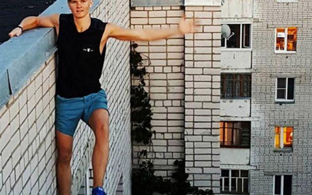 Una de las selfies extremas de Andrey Retrovsky.