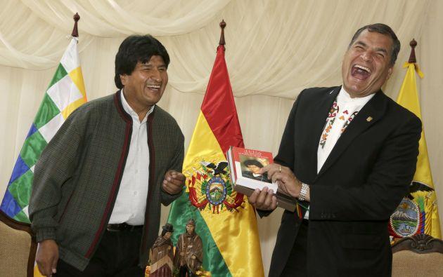 Evo Morales y Rafael Correa en Tiquipaya (Bolivia). Foto: REUTERS.