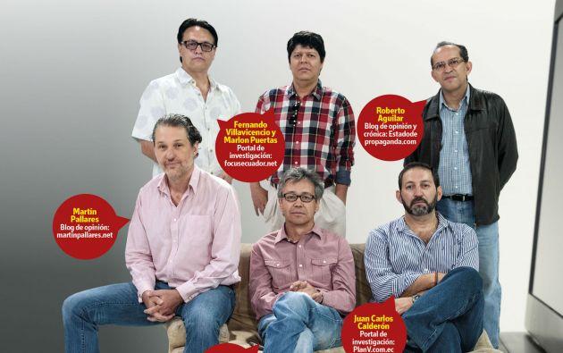 Arriba de izq. a der.: Fernando Villavicencio, Marlon Puertas, Roberto Aguilar. Abajo: Martín Pallares José Hernández, Juan Carlos Calderón.