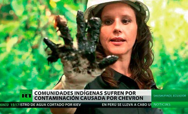 Documental en Amazonía. Eva Golinger fue una de las voces que se sumó a la campaña oficialista, La Mano Sucia de Chevron. Presentó un documental a mediados del año anterior.