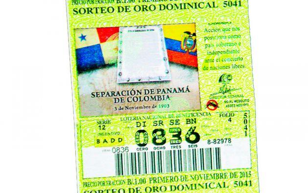 El boleto conmemorativo de la Independencia de Panamá.
