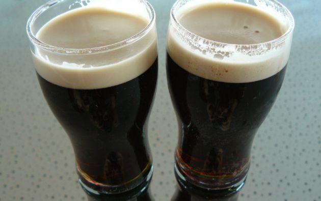 Cerveza negra.