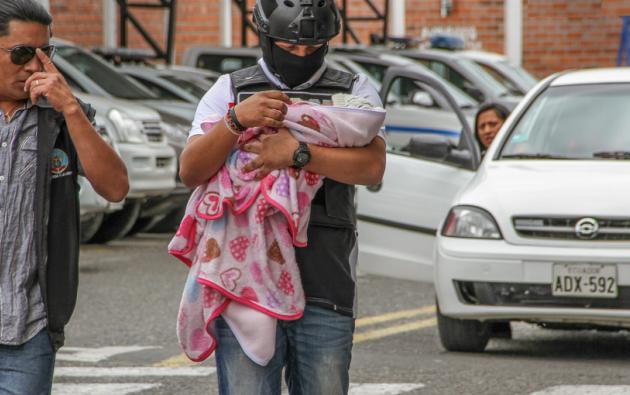 La menor estuvo desaparecida desde el 13 de octubre, a nueve días de haber nacido. Foto: Ministerio del Interior.