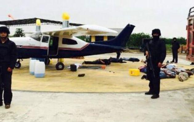 El 30 de noviembre de 2014 la Fiscalía y la Unidad Antinarcóticos incautaron 486 kilos de cocaína a bordo de una avioneta. Foto: Fiscalía.