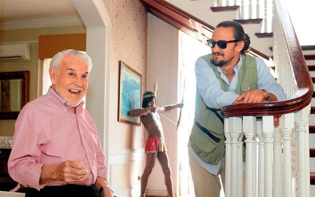 """Andrés Fernández-Salvador busca hace casi 70 años el tesoro escondido. Su hijo Luis Felipe ha hecho una película sobre sus aventuras: """"El Cazador"""". Foto: Fredy Moreno"""