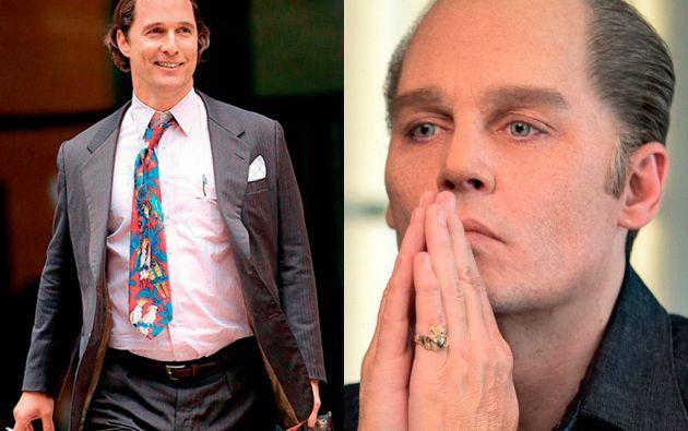 Matthew McConaughey y Johnny Depp en sus nuevos papeles.