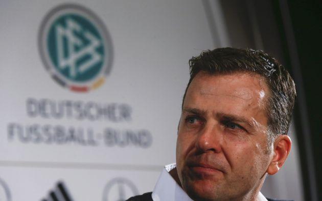 El director deportivo de la selección alemana de fútbol, Oliver Bierhoff. Foto: REUTERS.