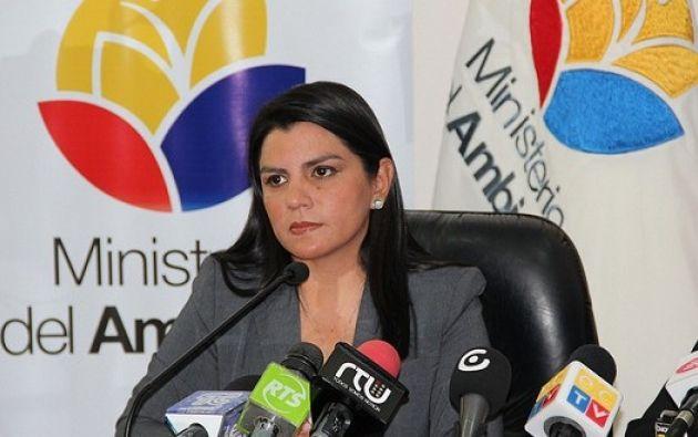 La funcionaria llevaba 3 años al frente del Ministerio. Aún se desconoce su reemplazo. Foto: Archivo / Ecuavisa.com.