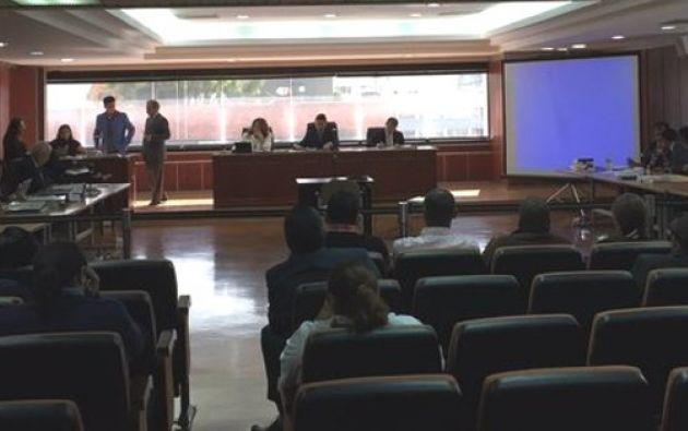 La audiencia de juzgamiento se inició la mañana de este 20 de noviembre de 2015. Foto: Twitter / Corte Nacional de Justicia.