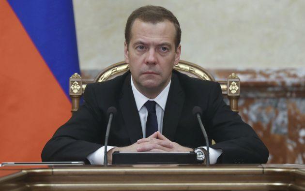 El primer ministro, Dmitri Medvédev. Foto: REUTERS