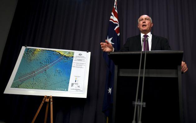 El viceprimer ministro australiano, Warren Truss, dijo que el nuevo estudio considera probable que los restos del avión estén en el extremo sur de la zona de búsqueda. Foto: REUTERS.