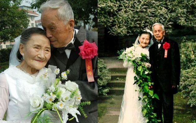 En 2005, cuando cumplieron 60 años de casados, la pareja también recreó la foto de su boda. Foto: ABC Australia.