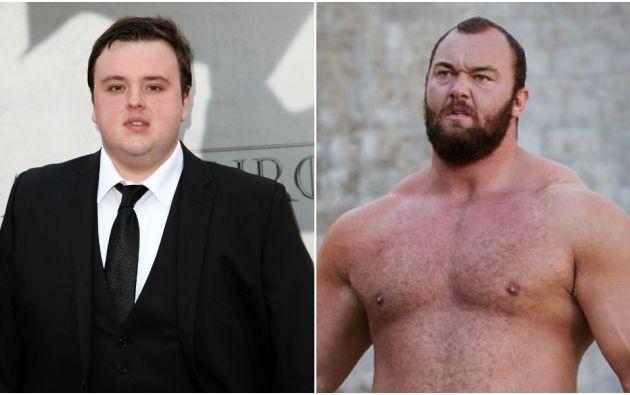 """John Bradley y Hafthór Júlíus Björnsson, actores de la serie """"Game of Thrones""""."""