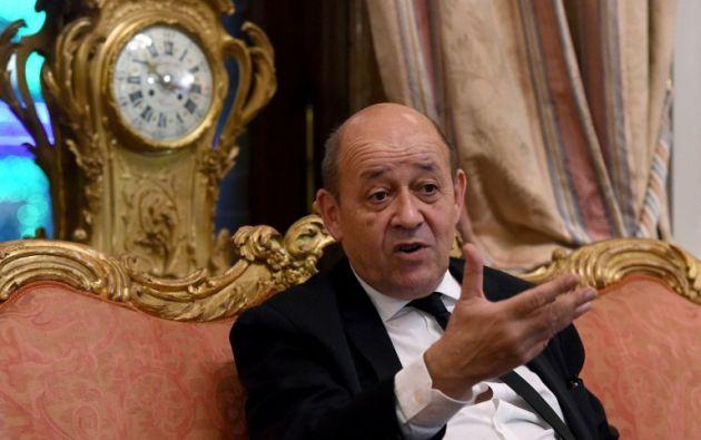 El ministro de defensa francés Jean-Yves Le Drian. Foto: AFP.