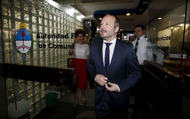 Martín Sabbatella, desplazado director de Audiovisuales. Foto: REUTERS.