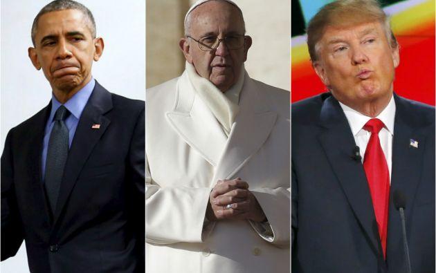 El presidente Barack Obama, el papa Francisco y el magnate Donald Trump son, en ese orden, los hombres más admirados este año en Estados Unidos. Fotos: REUTERS.