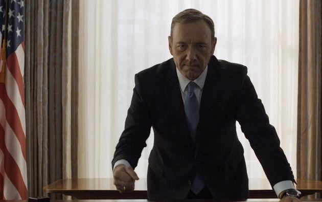 """Kevin Spacey interpreta al inescrupuloso Frank Underwood en """"House of Cards""""."""