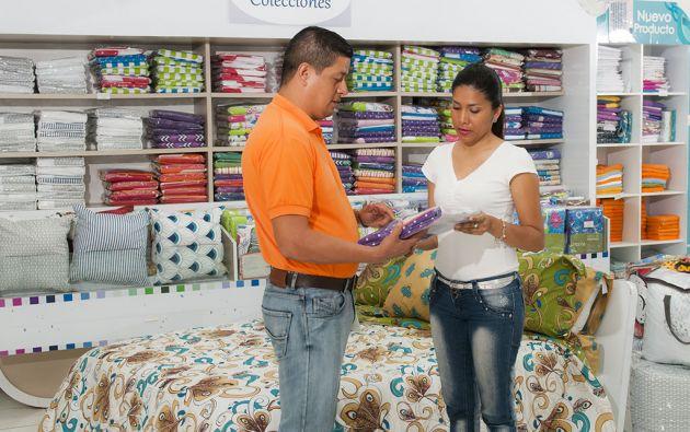 Los productos de Pintex se comercializan de forma directa en sus cuatro localesen Quito, Guayaquil y Manta, y a través de cadenas de autoservicios. Foto: Iván Navarrete