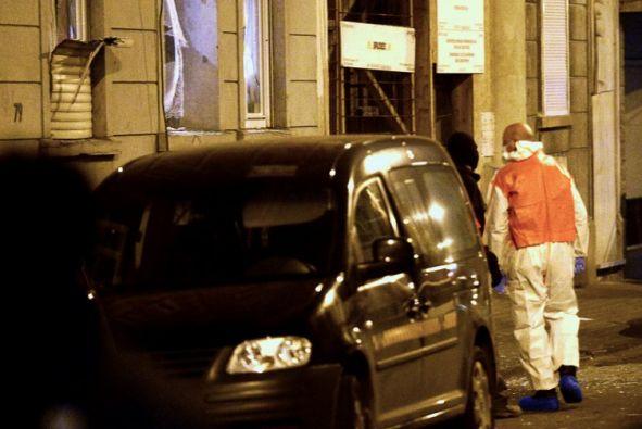 Uno de los edificios donde se realizó la operación en Bruselas. Foto: Agencia AFP