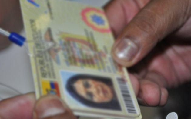 Foto: Registro Civil Ecuador