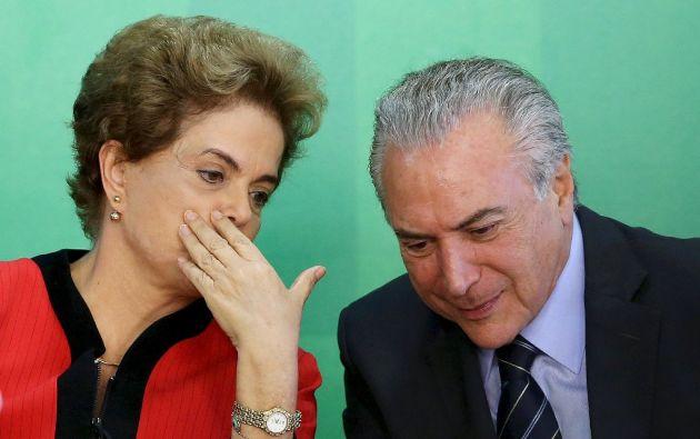 Dilma Rousseff y Michel Temer. Foto: Reuters