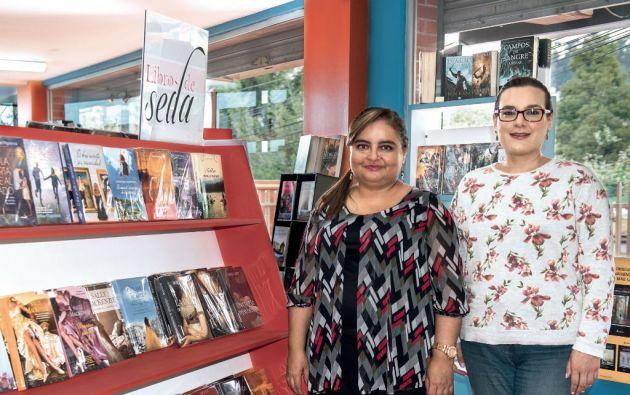 Patricia Ruiz y Anna Gensini, asesora comercial, están al frente de Livraria. La firma representa a la editorial española Libros de Seda. Foto: Cecilia Puebla