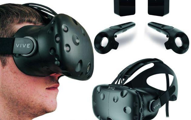 HTC Vive. Disponible desde principios de abril, su mayor oferta es que permite a sus usuarios explorar mundos virtuales moviéndose físicamente.