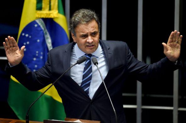 El senador brasileño, Aecio Neves. Foto: Agencia AFP.
