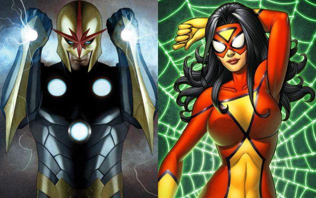 """""""Nova"""" y """"Spider Woman""""."""