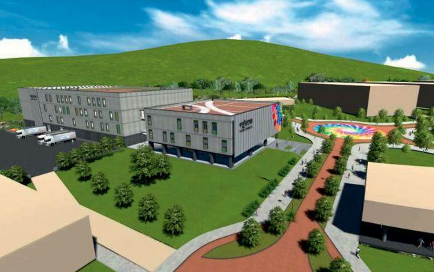 Expectativa. El proyecto de un complejo de cinco plantas fue diseñado en 2013. De Carondelet salió la directriz de edificarlo en Yachay, provincia de Imbabura.