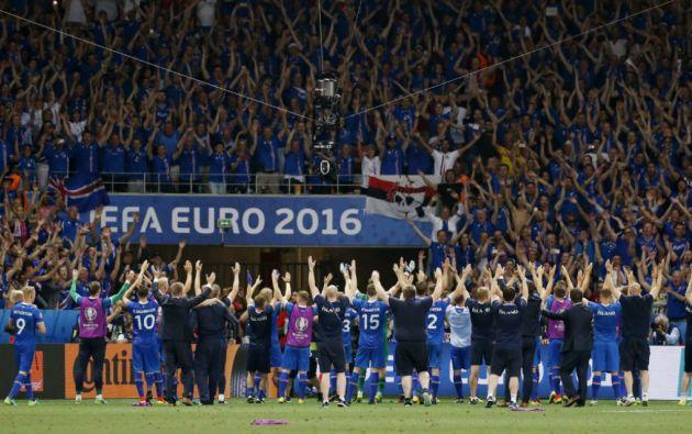 Islandia se ubica entre las mejores 8 selecciones de la Eurocopa 2016. Foto: Reuters
