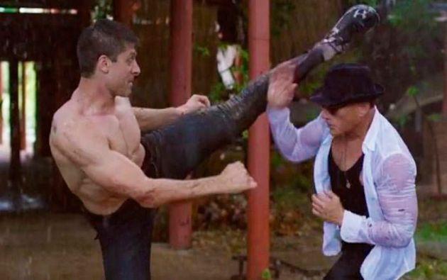 "En ""Kickboxer: Vengeance"", Van Damme cede el protagónico a Alain Moussi."