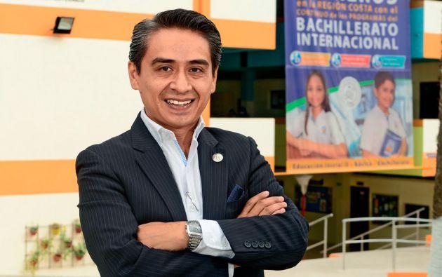 Diego Cadena Guerrero es el coordinador general de los programas de Bachillerato Internacional del Colegio Politécnico de Guayaquil. Foto César Mera