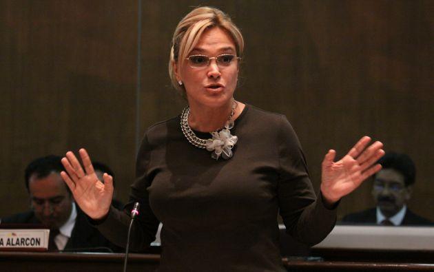 ECUADOR.- En un comunicado, la Asamblea asegura que la legisladora está con licencia sin remuneración. Foto: Asamblea