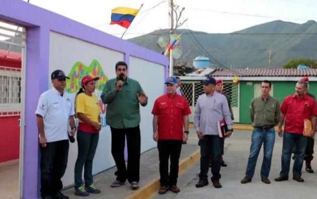 Nicolás Maduro, este viernes durante el acto en Isla Margarita en el que fue increpado. Foto: Reuters