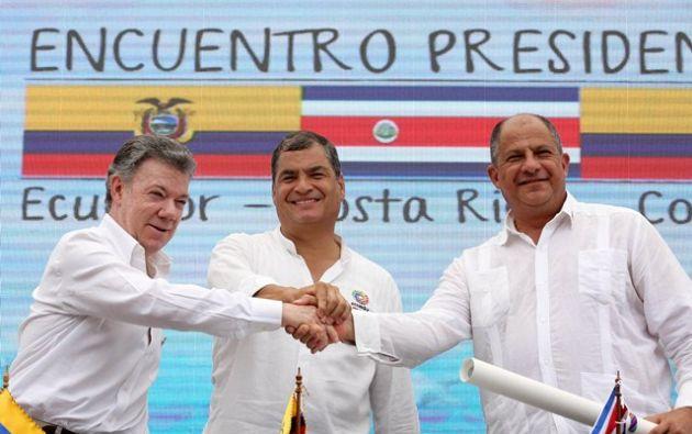 Los tres presidentes destacaron que la ceremonia es una muestra más de las buenas relaciones entre las naciones.