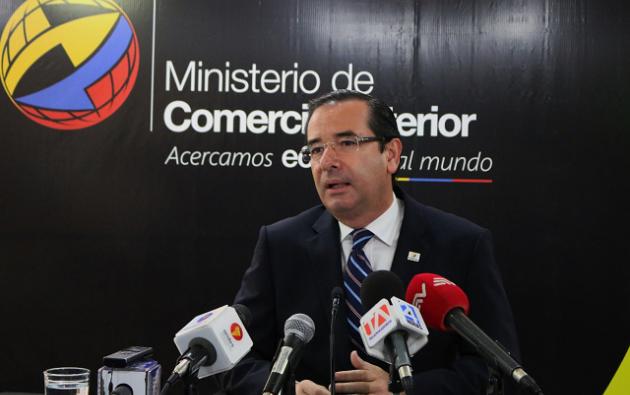 """""""El Acuerdo Comercial con la Unión Europea está más firme que nunca"""", dijo Cassinelli. Foto: Ministerio de Comercio Exterior."""