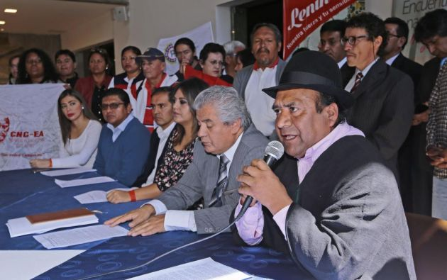Organizaciones sociales afines al Gobierno nacional piden un binomio electoral que esté conformado por el exvicepresidente de la República, Lenín Moreno, y a un binomio mujer. Foto: API.