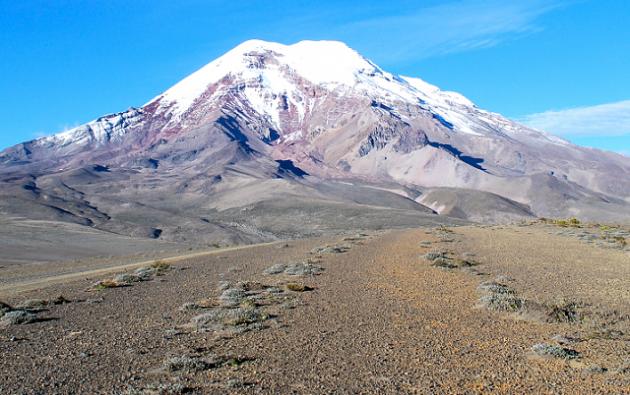 El volcán Chimborazo. Foto: Wikipedia.
