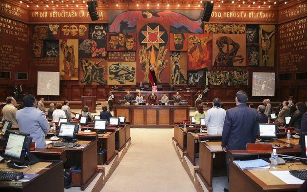 Uno de los artículos del proyecto de ley plantea un impuesto a venta de entradas de películas extranjeras en el cine. Foto: @AsambleaEcuador.