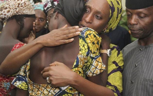 NIGERIA.- Una de ellas explicó que vivieron durante un mes y diez días sin alimentos antes de ser liberadas. Foto: AFP